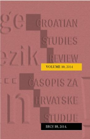 Croatian Studies Review - Časopis hrvatskih studija