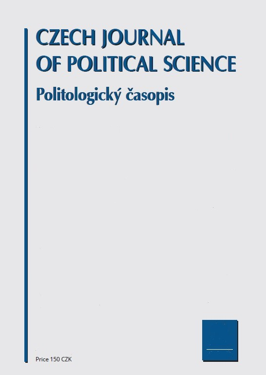 Politologický časopis - Czech Journal of Political Science