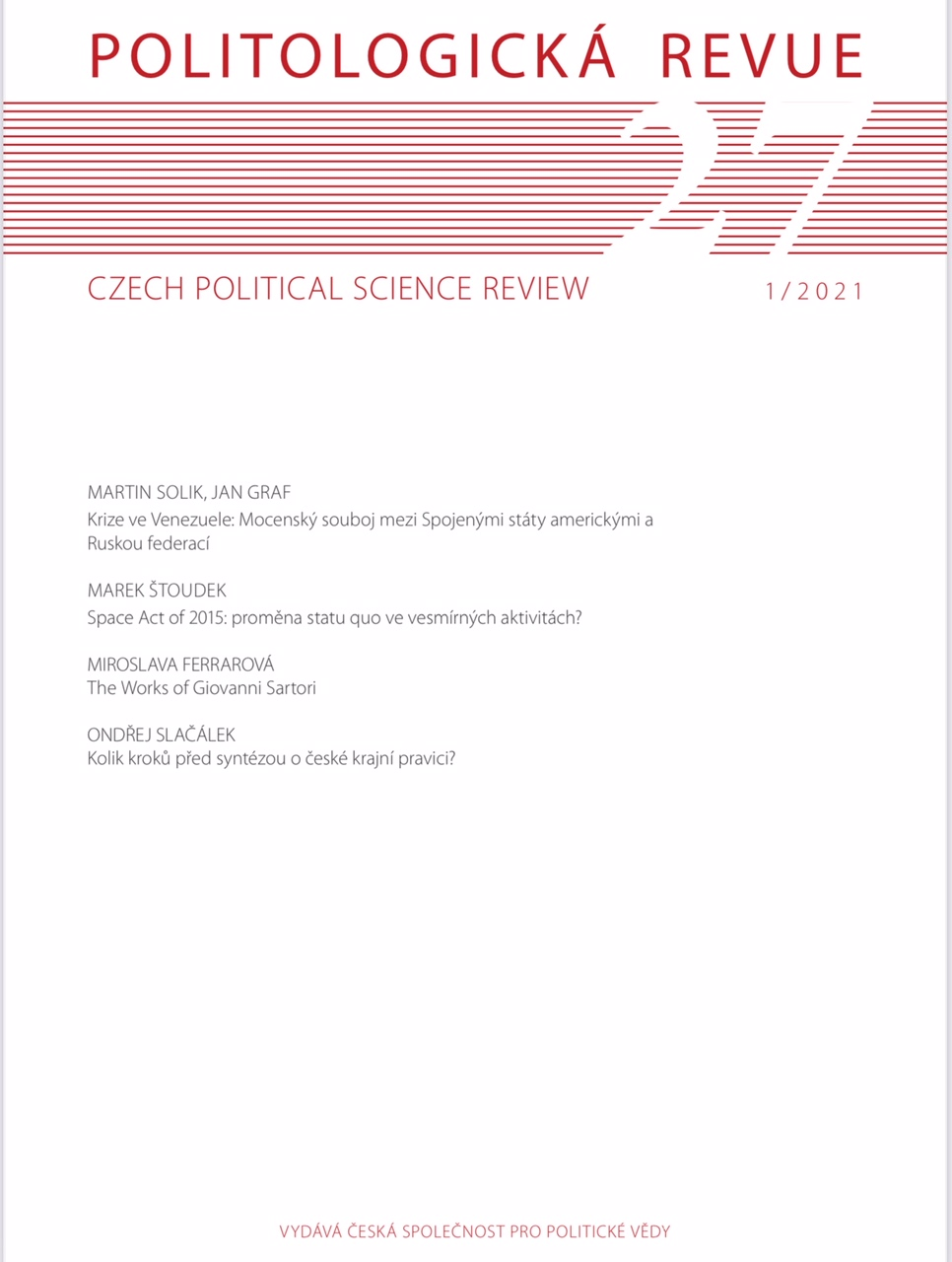Czech Political Science Review Cover Image