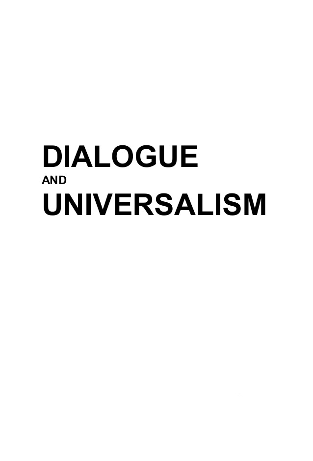 Dialogue and Universalism