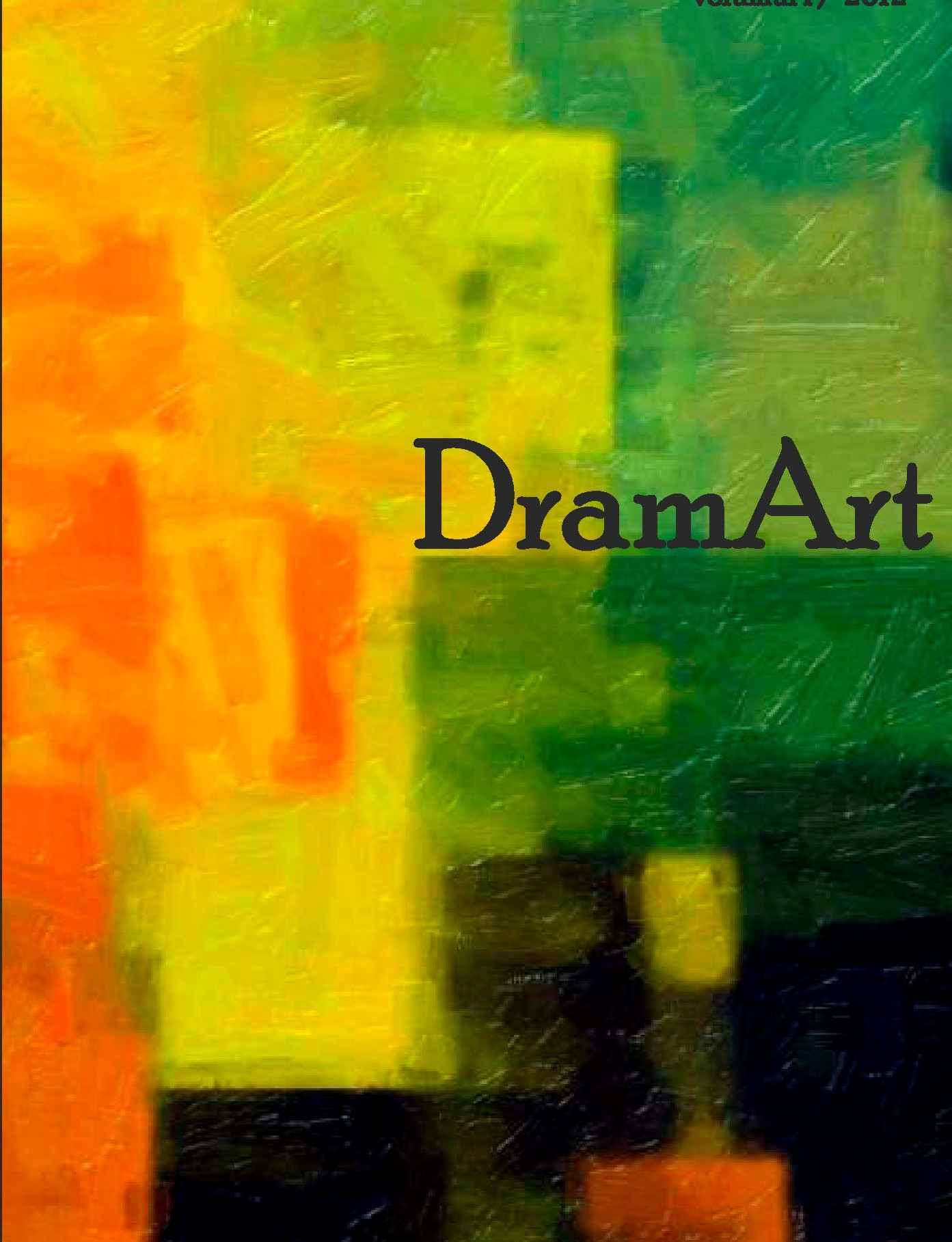 DramArt. Journal of Theatre Studies Cover Image