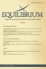 Equilibrium. Quarterly Journal of Economics and Economic Policy