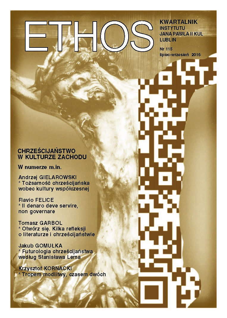 Ethos: Quarterly of the John Paul II Institute at the Catholic University of Lublin Cover Image