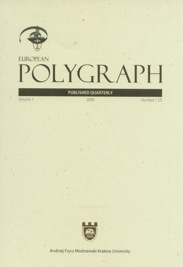 European Polygraph Cover Image