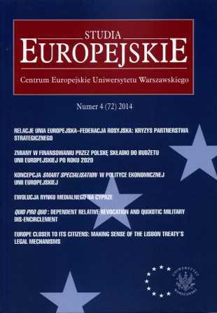 Studia Europejskie - European Studies Affairs