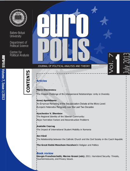 Europolis, Journal Of Political Science And Theory Cover Image