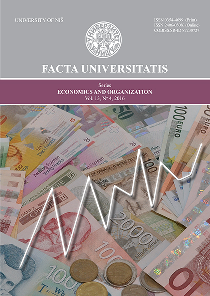 FACTA UNIVERSITATIS - Economics and Organization Cover Image