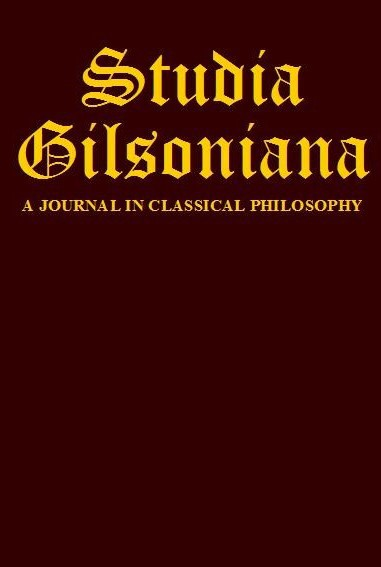 Gilsonian Studies Cover Image