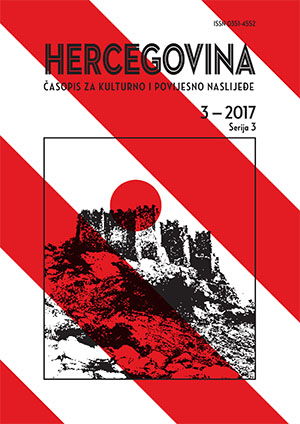 Hercegovina.  Journal of cultural heritage and history (since 2018) Cover Image