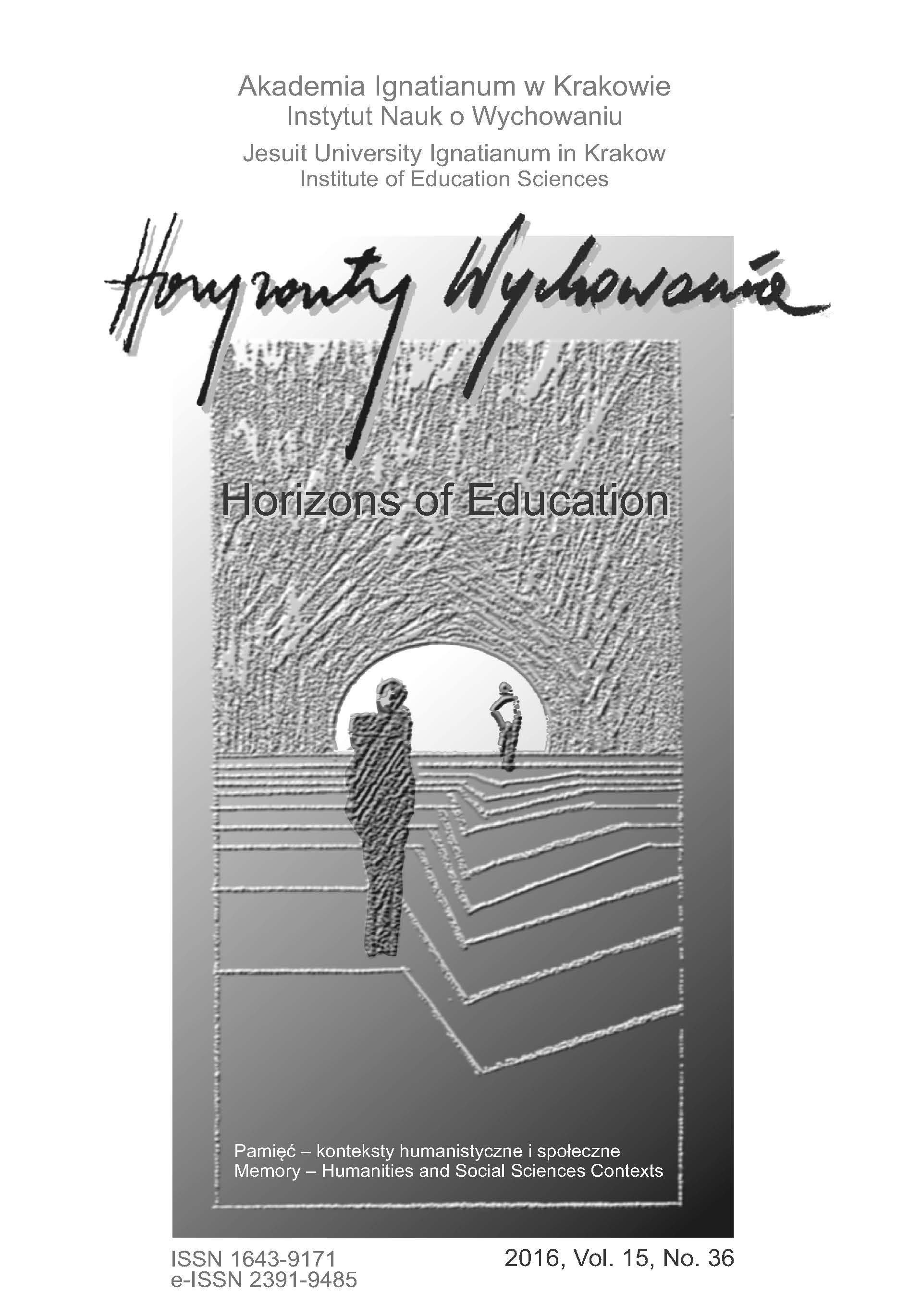 Horizons of Education Cover Image