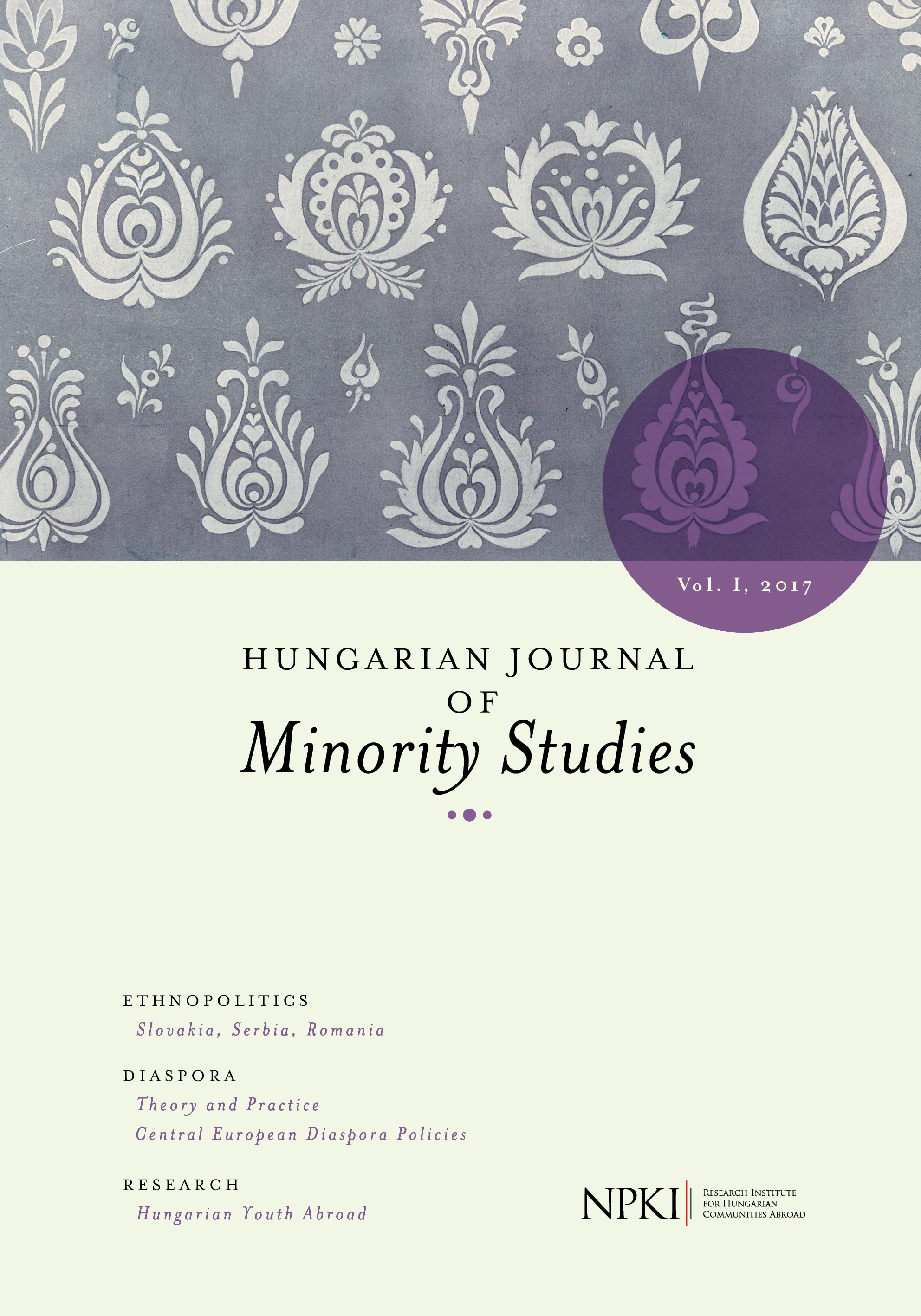 Hungarian Journal of Minority Studies Cover Image