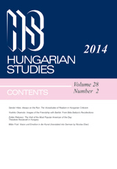 Hungarian Studies. A Journal of the International Association for Hungarian Studies and Balassi Institute Cover Image