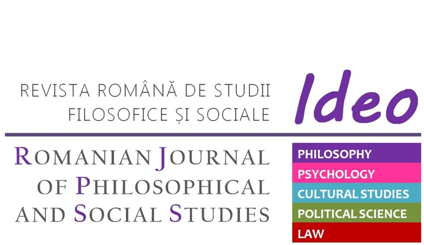 Ideo: Romanian Journal of Philosophical and Social Studies Cover Image