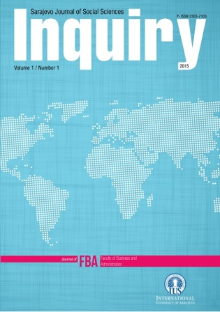 Inquiry - Sarajevo Journal of Social Science