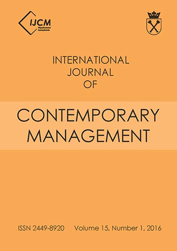 International Journal of Contemporary Management Cover Image