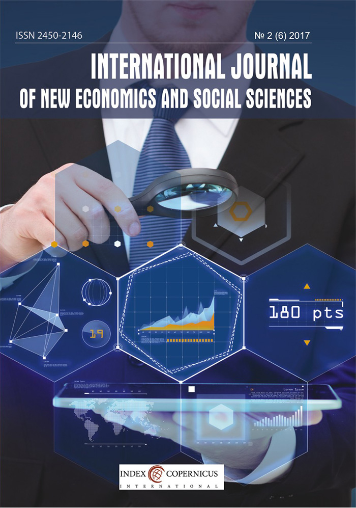 International Journal of New Economics and Social Sciences IJONESS Cover Image