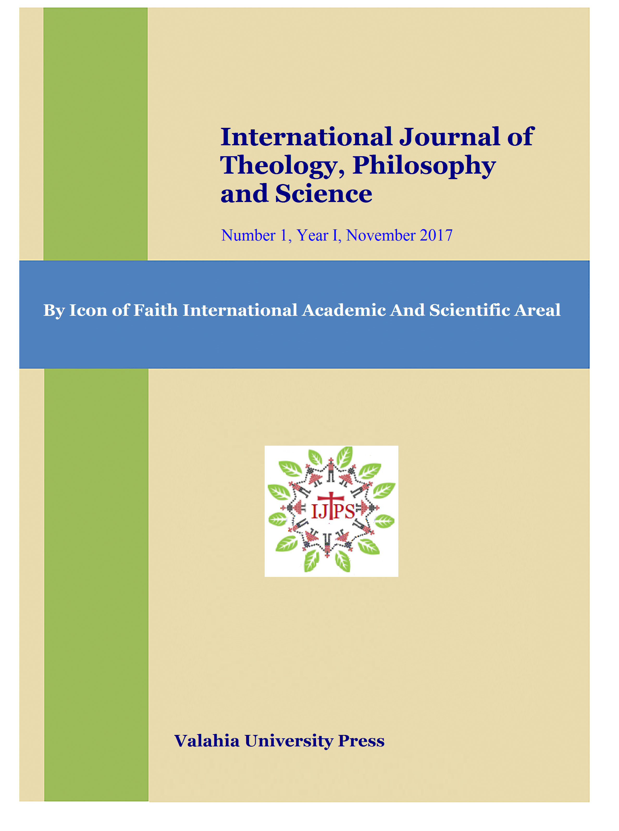 International Journal of Theology, Philosophy and Science Cover Image
