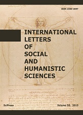 International Letters of Social and Humanistic Sciences Cover Image