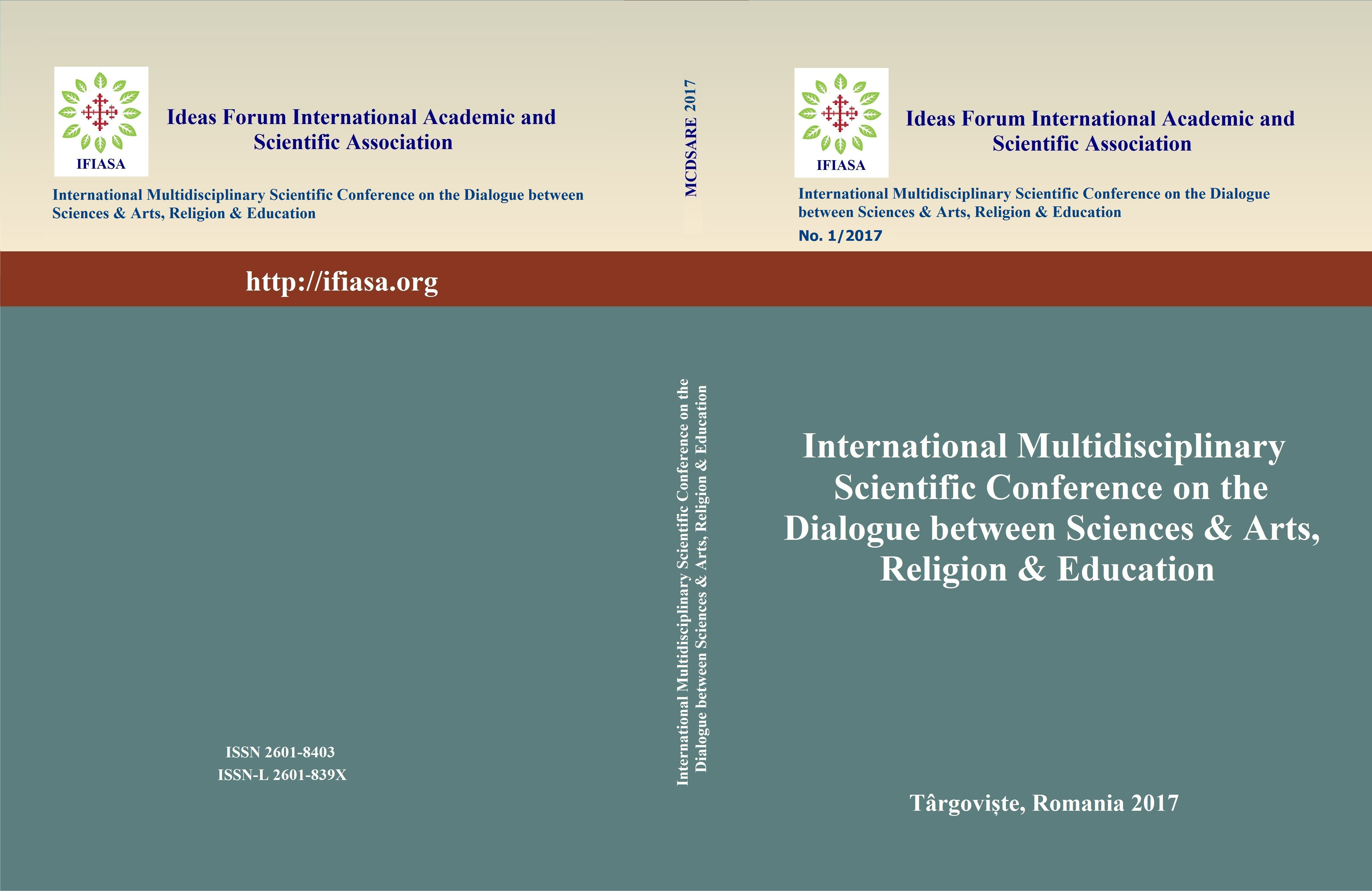 International Multidisciplinary Scientific Conference on the Dialogue between Sciences & Arts, Religion & Education Cover Image
