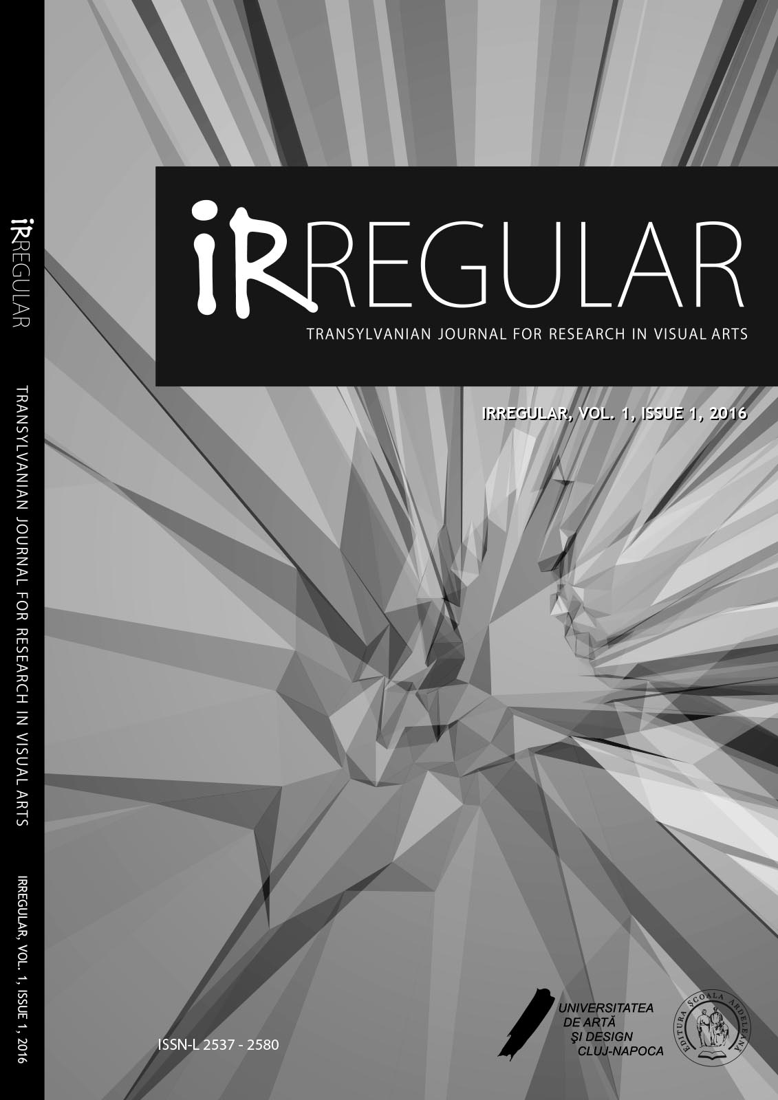 Irregular. Transylvanian Journal for Research in Visual Arts Cover Image
