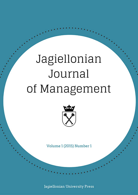 Jagiellonian Journal of Management Cover Image
