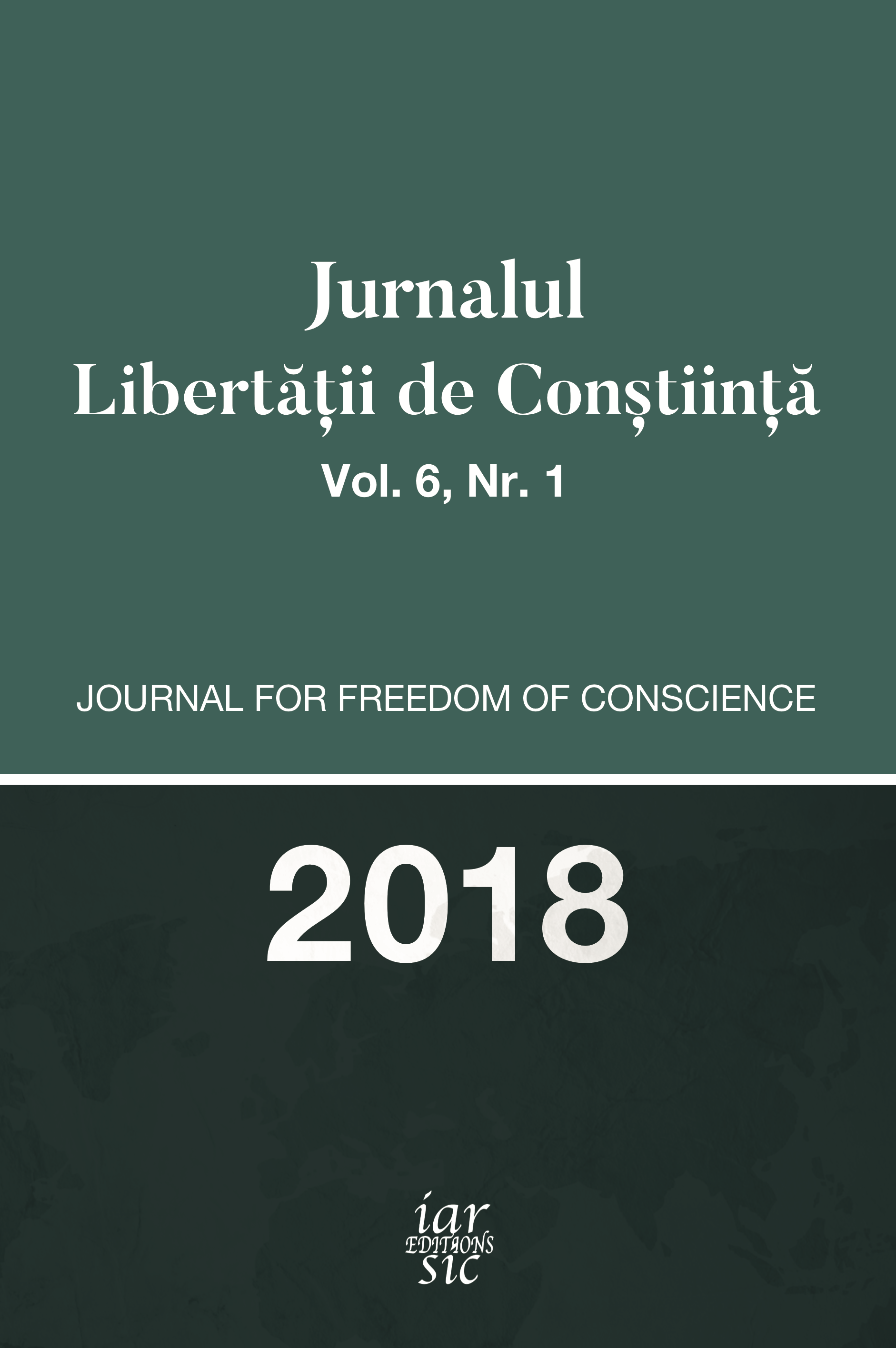Journal for Freedom of Conscience Cover Image