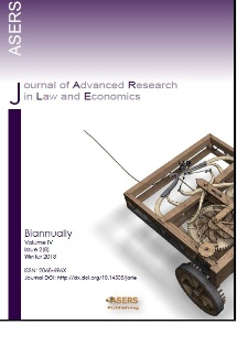 Journal of Advanced Research in Law and Economics (JARLE)