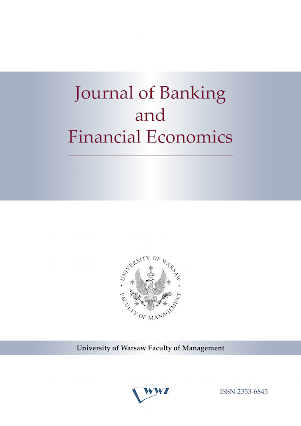 Journal of Banking and Financial Economics Cover Image