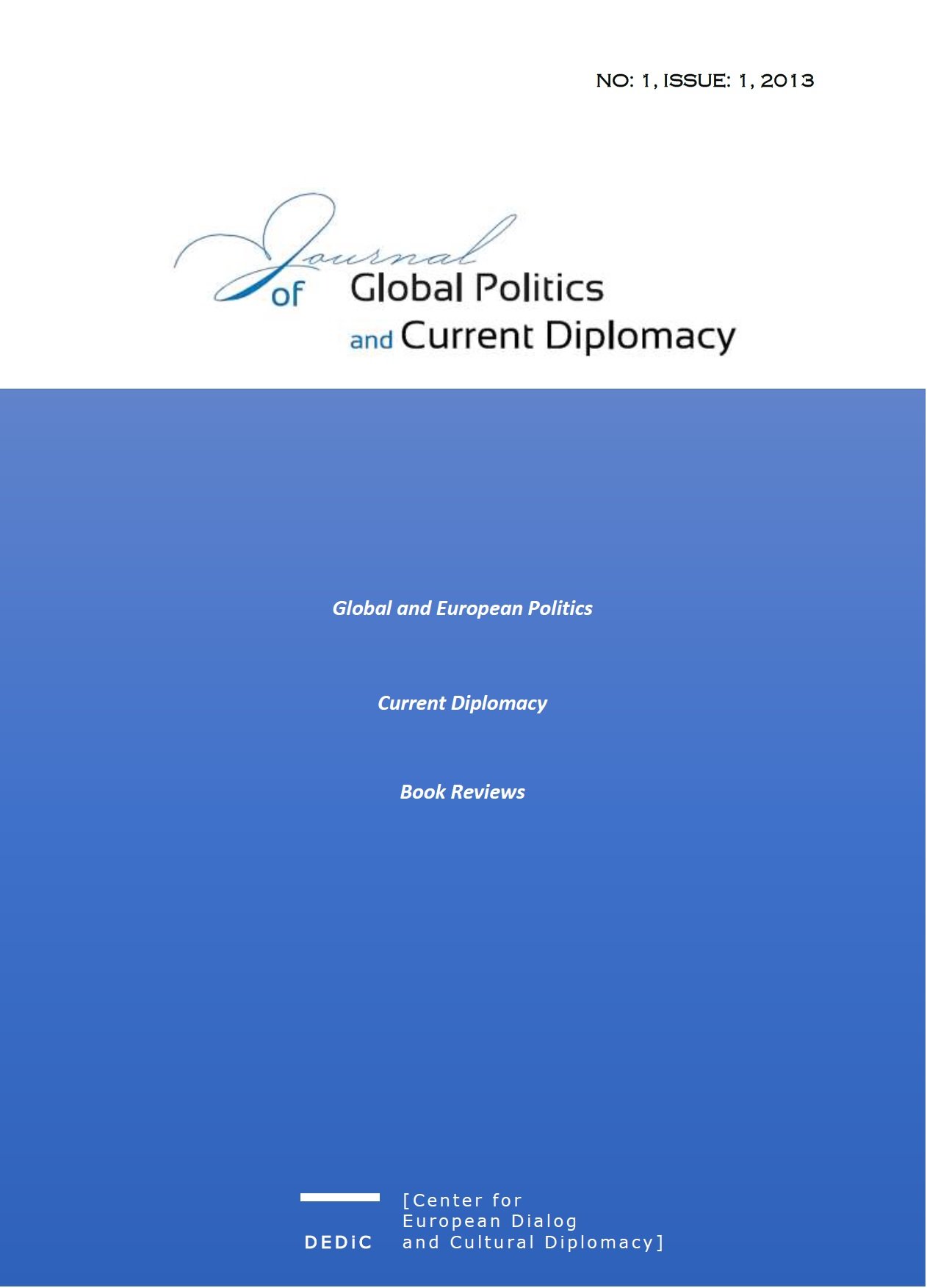 Journal of Global Politics and Current Diplomacy Cover Image