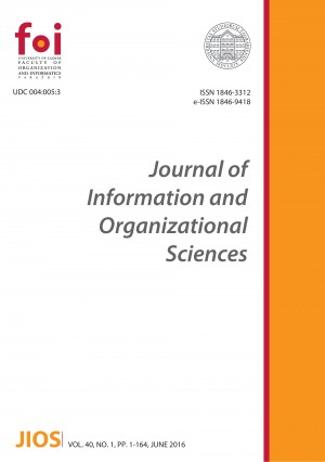 Journal of Information and Organizational Sciences Cover Image