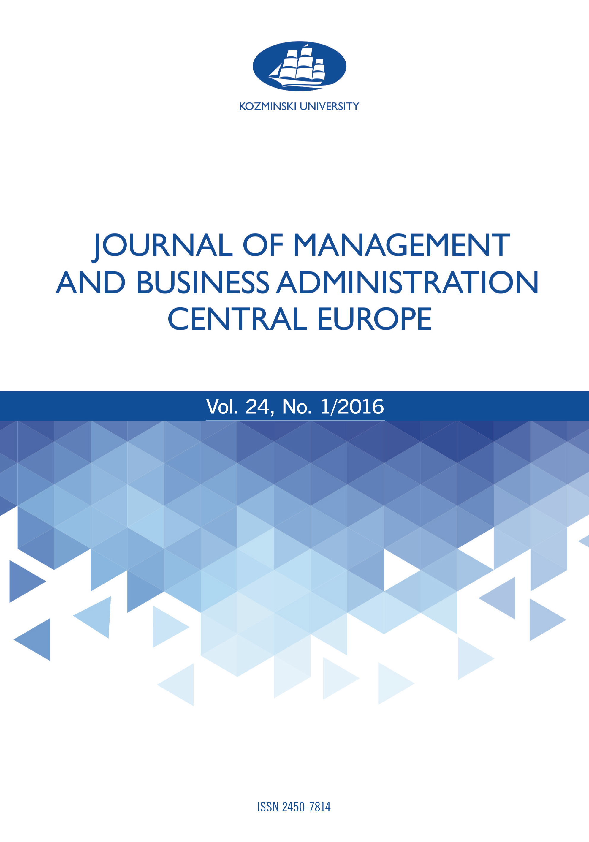 Journal of Management and Business Administration. Central Europe