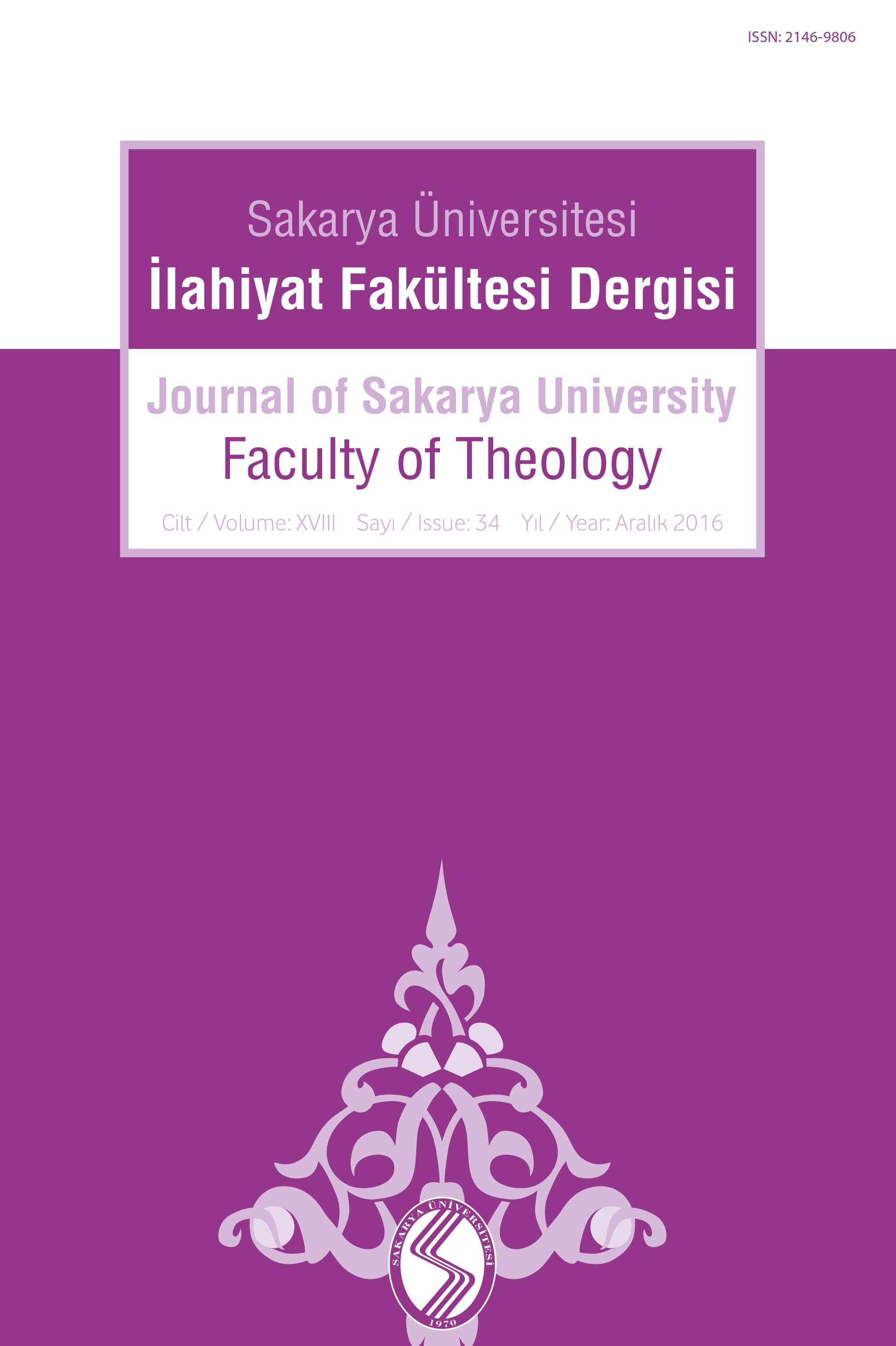Journal of Sakarya University Faculty of Theology (SAUIFD) Cover Image
