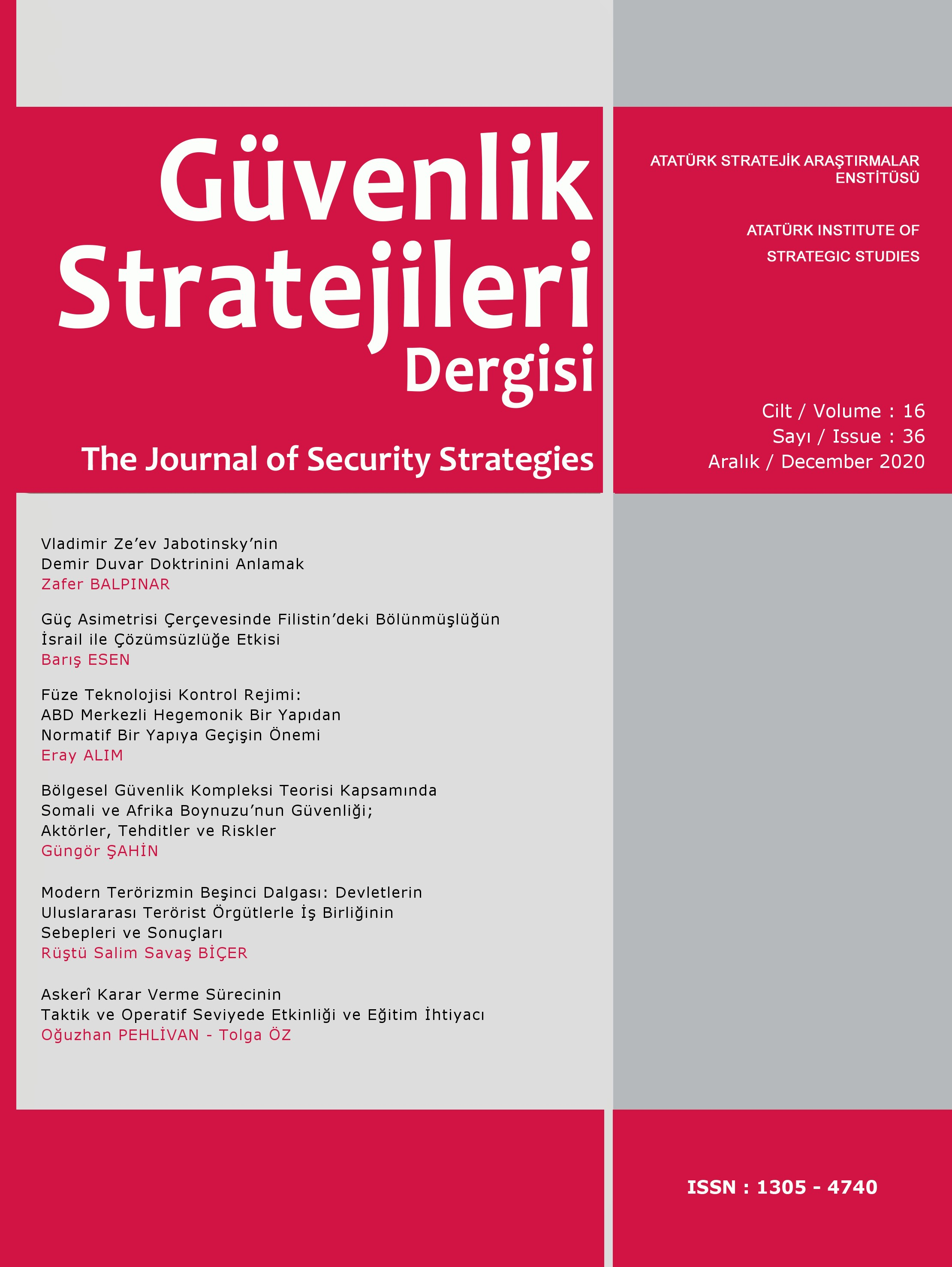 Journal of Security Strategies Cover Image