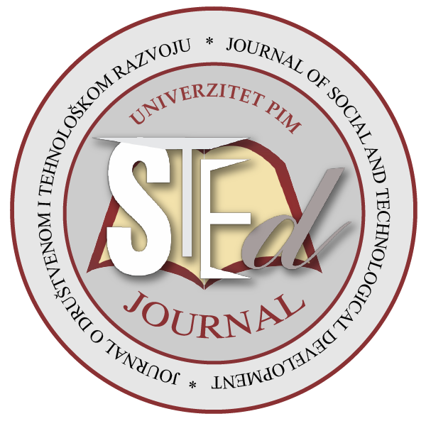 Journal of Social and Technological Development – STED Journal Cover Image
