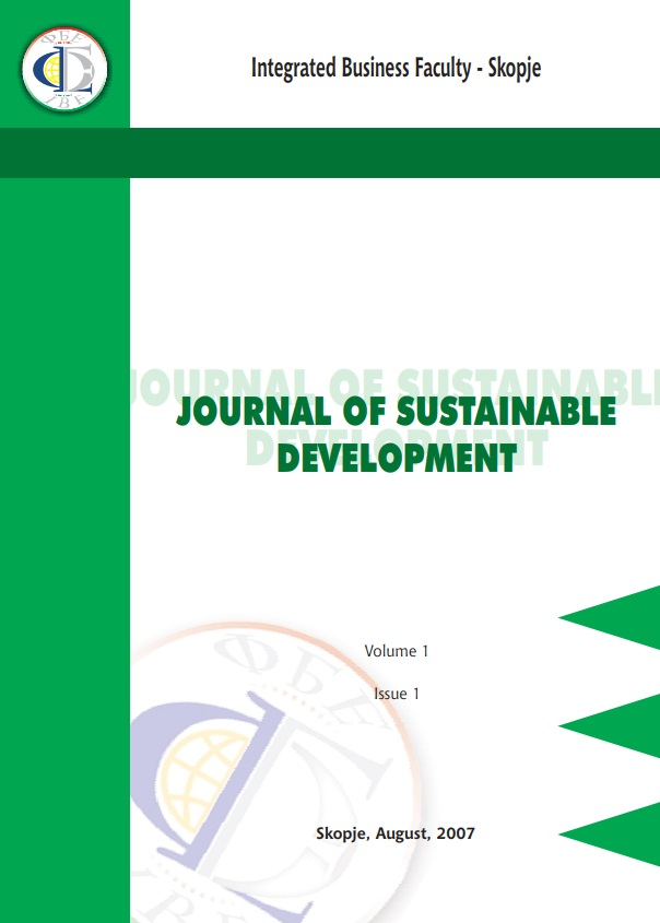 Journal of Sustainable Development Cover Image