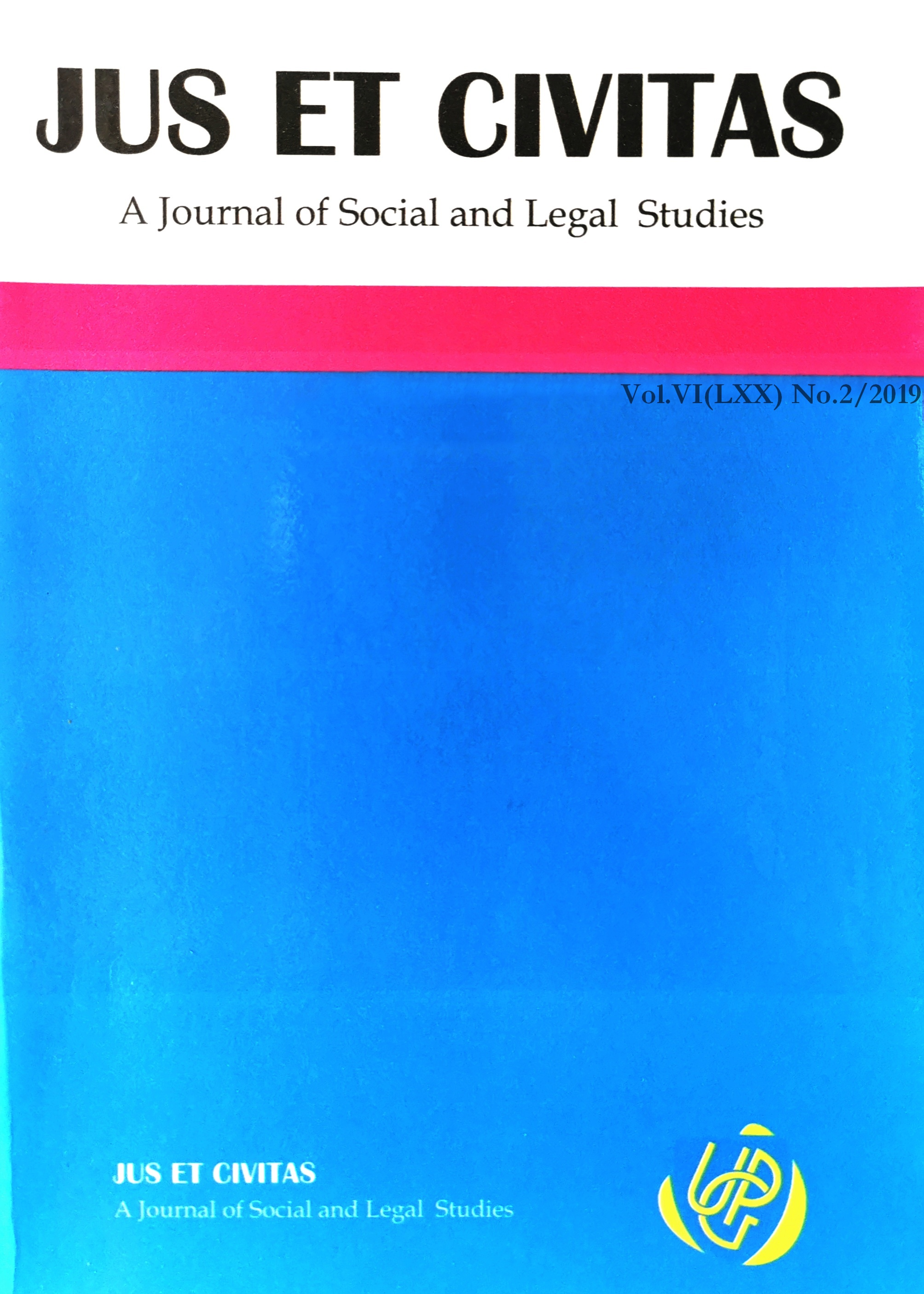 Jus et Civitas - A Journal of Social and Legal Studies Cover Image
