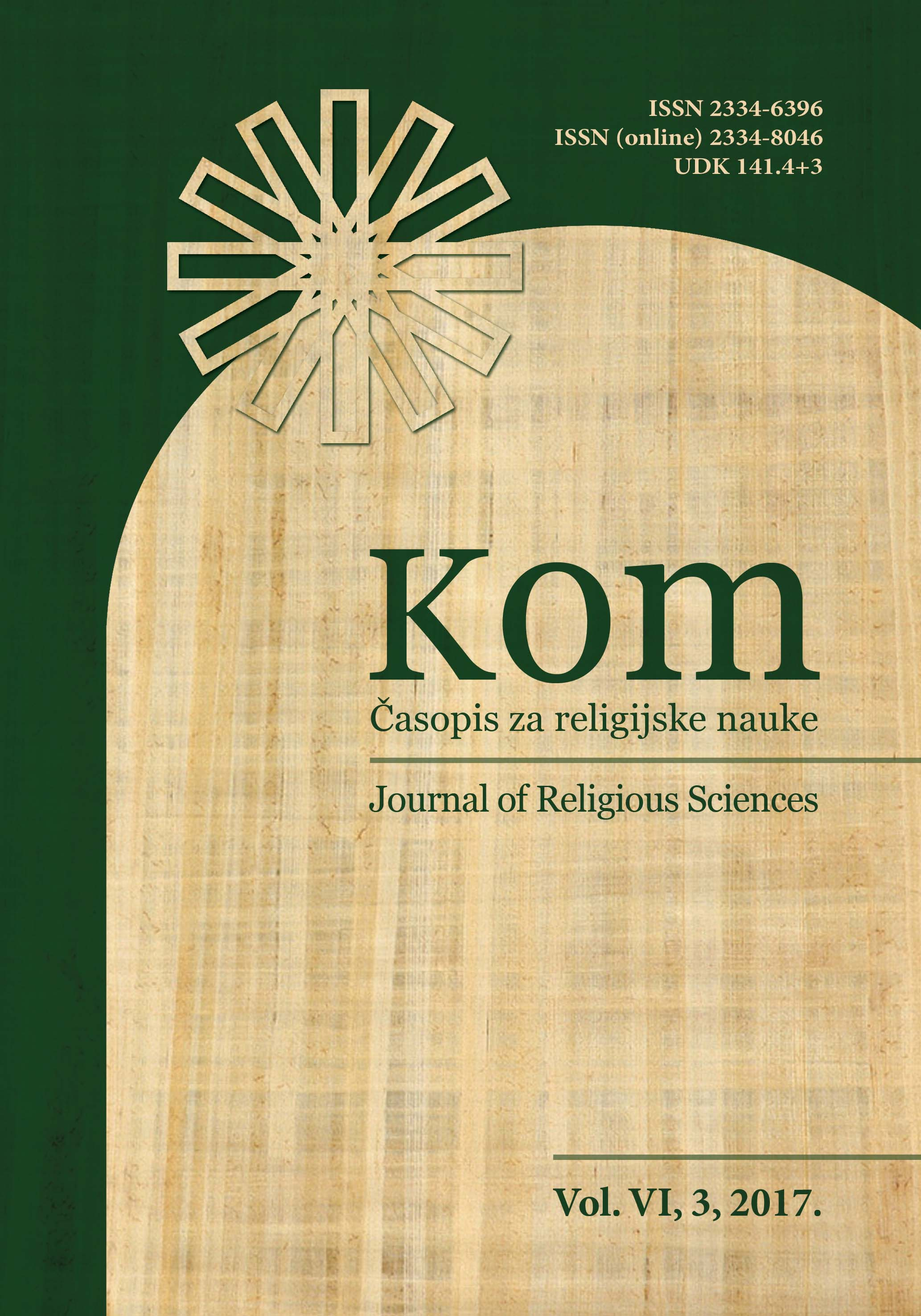 Kom: Journal of Religious Sciences Cover Image