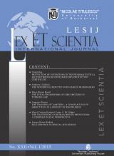 LESIJ - Lex ET Scientia International Journal
