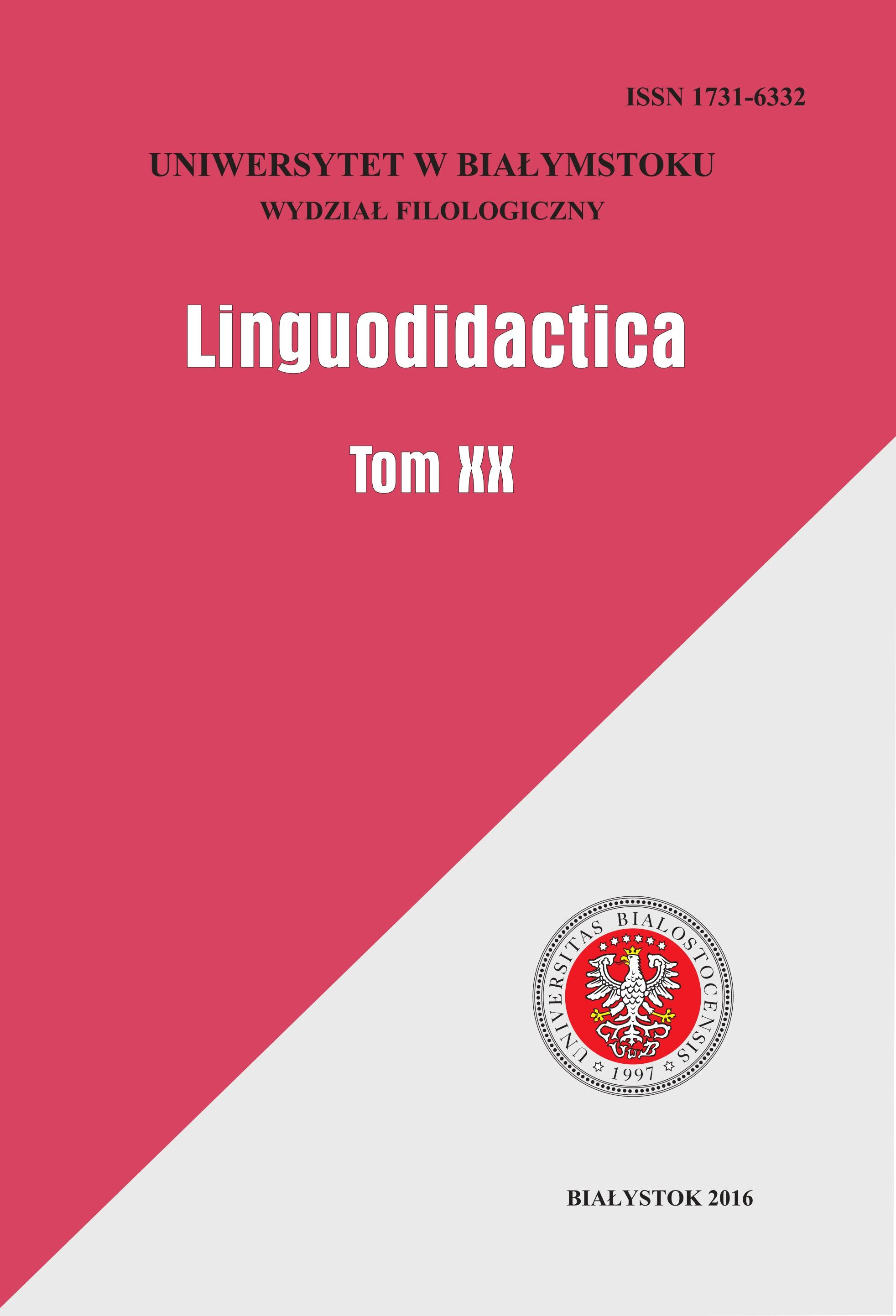 Linguodidactica Cover Image
