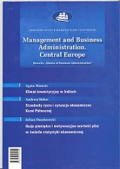 Management and Business Administration. Central Europe Cover Image
