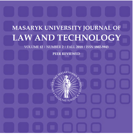Masaryk University Journal of Law and Technology