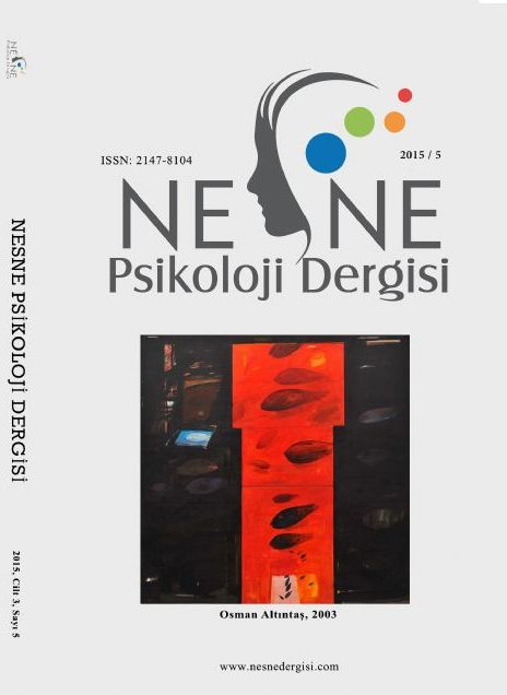 Nesne-Journal of Psychology Cover Image