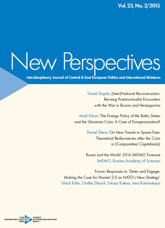 New Perspectives. Interdisciplinary Journal of Central & East European Politics and International Relations Cover Image