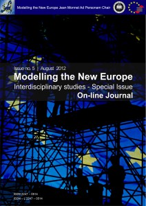 Modelling the New Europe. An On-line Journal Cover Image