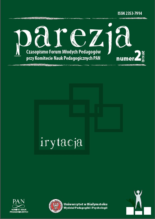 Parehesia. The Forum of Young Pedagogues at the Comitte of Pedagogical Sciences Cover Image