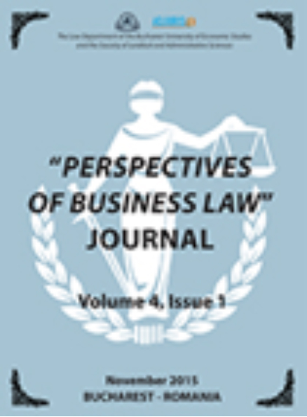 Perspectives of Business Law Journal Cover Image