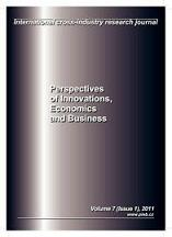 Perspectives of Innovations, Economics and Business, PIEB Cover Image