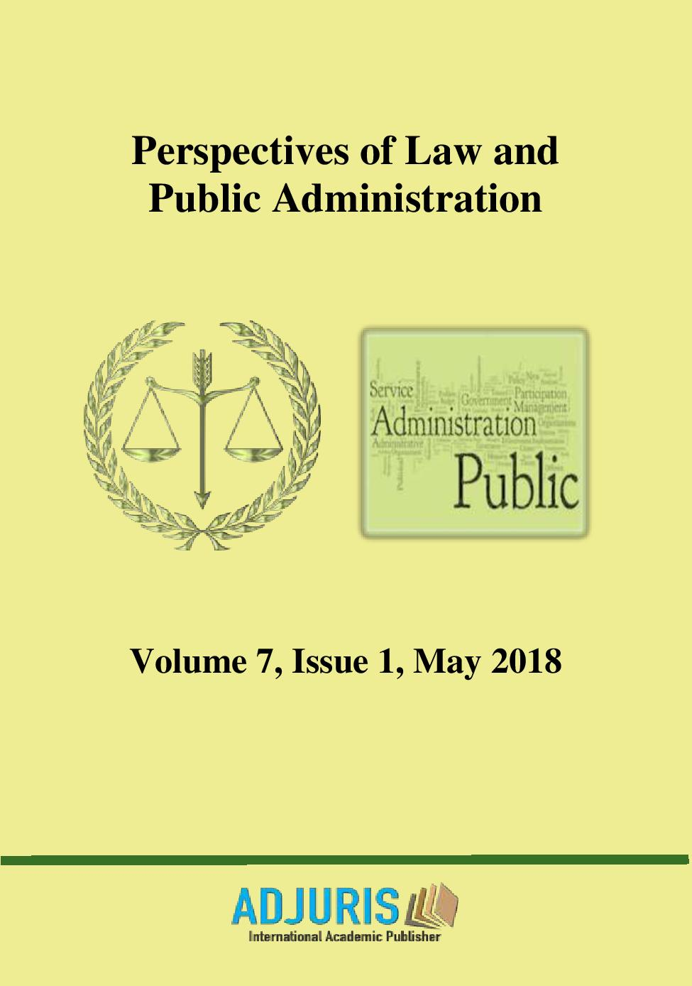 Perspectives of Law and Public Administration Cover Image