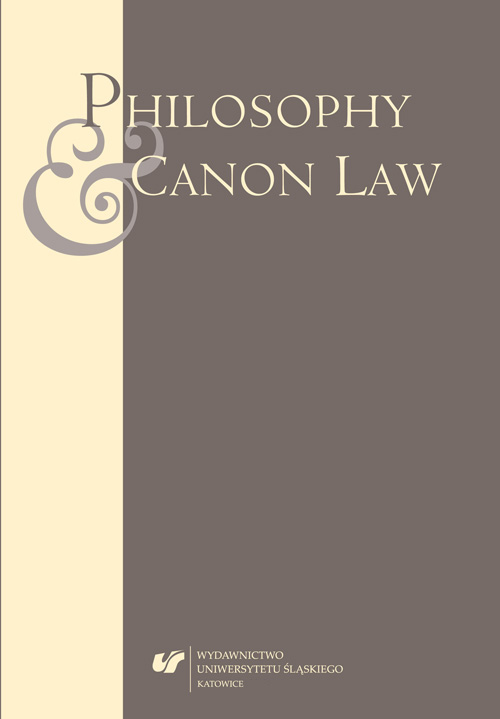 Philosophy and Canon Law Cover Image