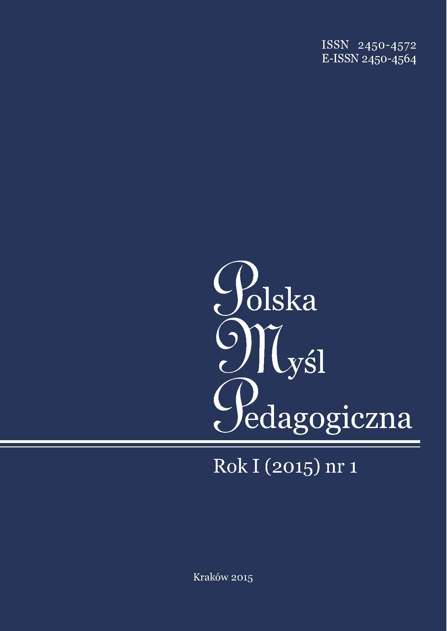 Polish Pedagogical Thought Cover Image